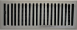 Contemporary Style Brushed Nickel Floor Registers