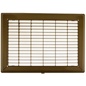 18 x 18 Heavy Gauge Steel Floor Grill - Brown