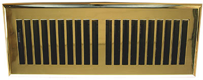 4 x 10 Plastic Contemporary Polished Brass Register