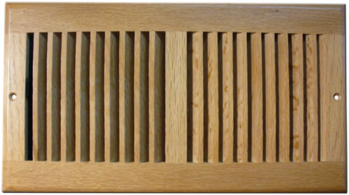 Accord 12 x 6 Light Oak Sidewall / Ceiling Register