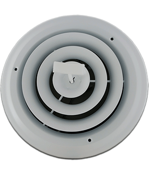 6 Inch Round Air Grille with Damper
