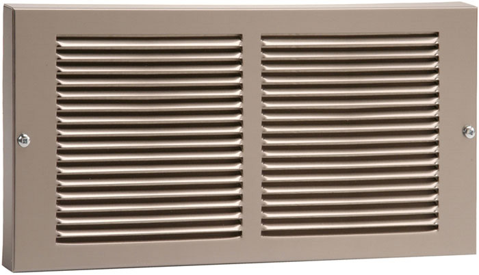 12 x 8 Stamped Steel Baseboard Return Grill - Pewter