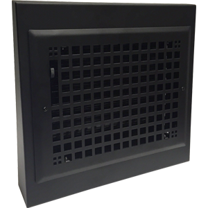 13x12 Black Baseboard Register Gravity Grid Baseboard