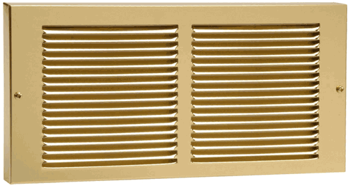 30 x 6 Stamped Steel Baseboard Return - Brass Plated