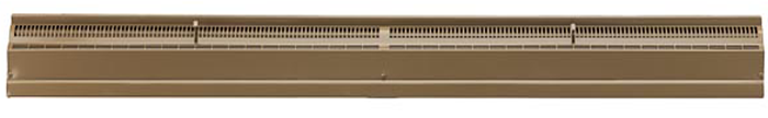 48 Inch Stamped Steel Baseboard Register - Golden Sand
