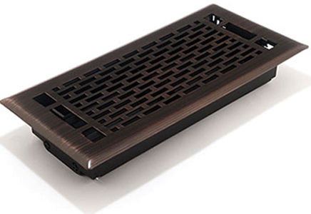 Decorative 4x10 Floor Register Oil Rubbed Bronze Floor Vents