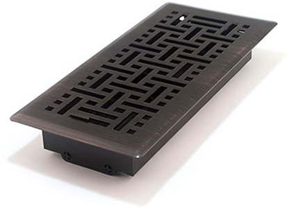6x10 Wicker Oil Rubbed Bronze Floor Register