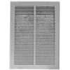 10 x 20 White Steel Return Air Filter Grill