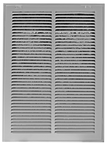 14 x 25 White Steel Return Air Filter Grill
