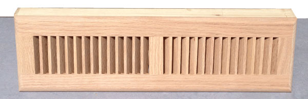 Zoroufy 18 Inch Red Oak Wood Baseboard Diffuser - Unfinished Oak