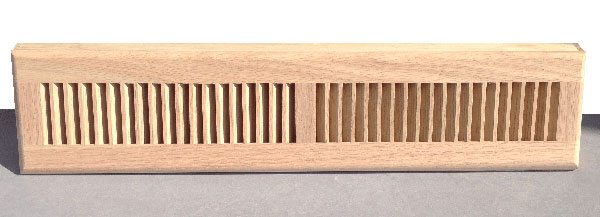 Wood Baseboard Diffuser Register Cover