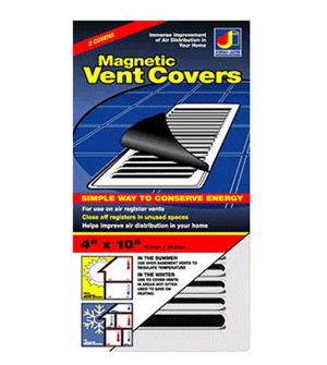 4 x 10 Magnetic Floor Vent Cover - White