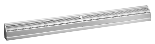 48 Inch Stamped Steel Baseboard Register - White