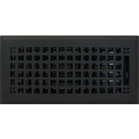 4 x 12 Rockwell Flat Black Floor Register