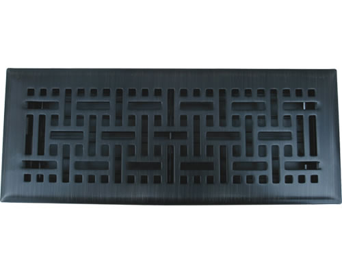 2.25x12 Wicker Oil Rubbed Bronze Floor Register