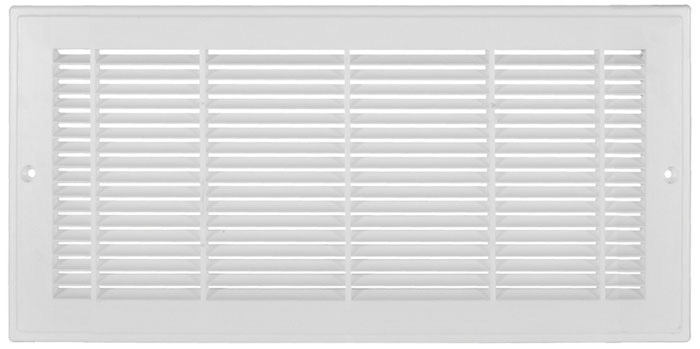 12 x 8 Plastic Return Grill - White