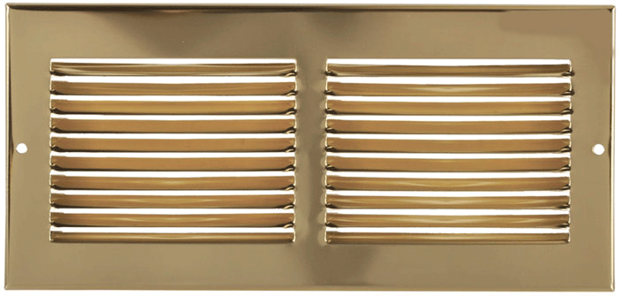 10 x 6 Brass Plated Return Air Grill