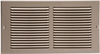 12 x 6 Stamped Steel Return Air Grille - Plated Pewter
