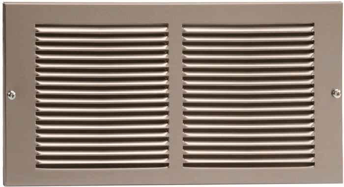 24 x 6 Stamped Steel Return Air Grille - Plated Pewter
