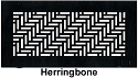 Gold Series Floor Grill Herringbone
