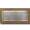 4 X 12 Metal Flush Mount Vent - Chainlink