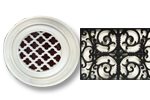 Round Resin Grill French Quarter Pattern