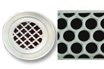Round Resin Grill Honeycomb Pattern