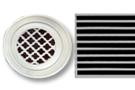 Round Resin Grill Linear Pattern