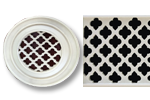 Round Resin Grill Moroccan Pattern