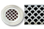 Round Resin Grill Seaside Pattern
