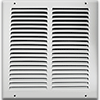 10 X 10 Stamped Steel Return Air Grille - White