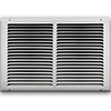 16 X 10 Stamped Steel Return Air Grille - White