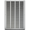 16 X 25 Stamped Steel Return Air Grille - White