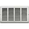 16 X 8 Stamped Steel Return Air Grille - White