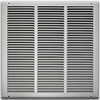18 X 18 Stamped Steel Return Air Grille - White