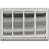 20 X 12 Stamped Steel Return Air Grille - White