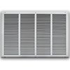 24 X 16 Stamped Steel Return Air Grille - White