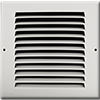 6 X 6 Stamped Steel Return Air Grille - White