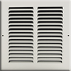 8 x 8 Stamped Steel Return Air Grille - White