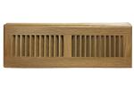 Zoroufy 15 Inch White Oak Wood Baseboard Diffuser - Natural Finish