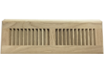Zoroufy 15 Inch White Oak Wood Baseboard Diffuser - Unfinished