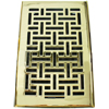 2.25x10 Wicker Polished Brass Floor Register