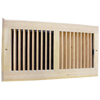 Accord 12 x 6 Unfinished Wood Sidewall / Ceiling Register