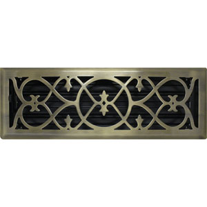 4 x 14 Victorian Antique Brass Plated Floor Register