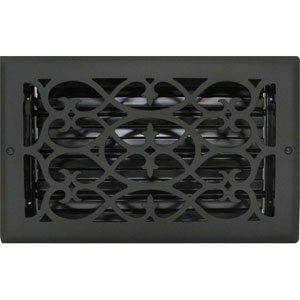 Decorative Heat Register Covers Black Vent
