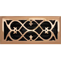 4 X 10 Victorian Floor Register - Copper