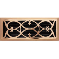 4 X 12 Victorian Floor Register - Copper