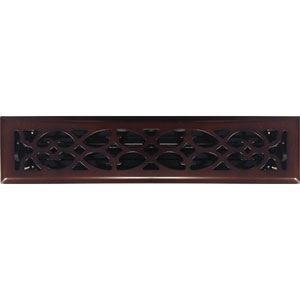 2 x 14 Victorian Oil Rubbed Bronze Plated Register