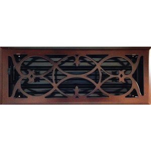 4 x 12 Victorian Oil Rubbed Bronze Plated Register