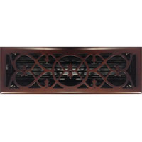 4 x 14 Victorian Oil Rubbed Bronze Plated Register